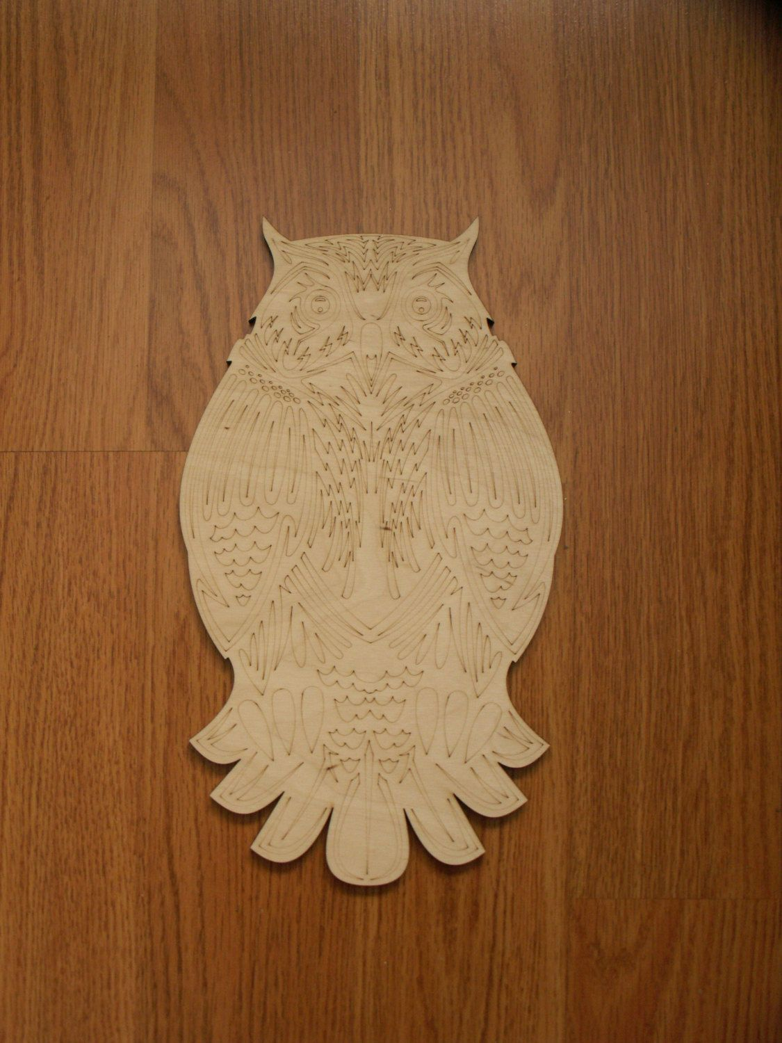 Large Owl Wood Cutout, Laser Cutouts, Unfinished Wood, Home Decor ...