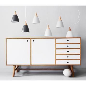 Sideboard Why Wood II - Eiche teilmassiv - Weiß   Eiche Hell - wohnzimmerschrank eiche hell