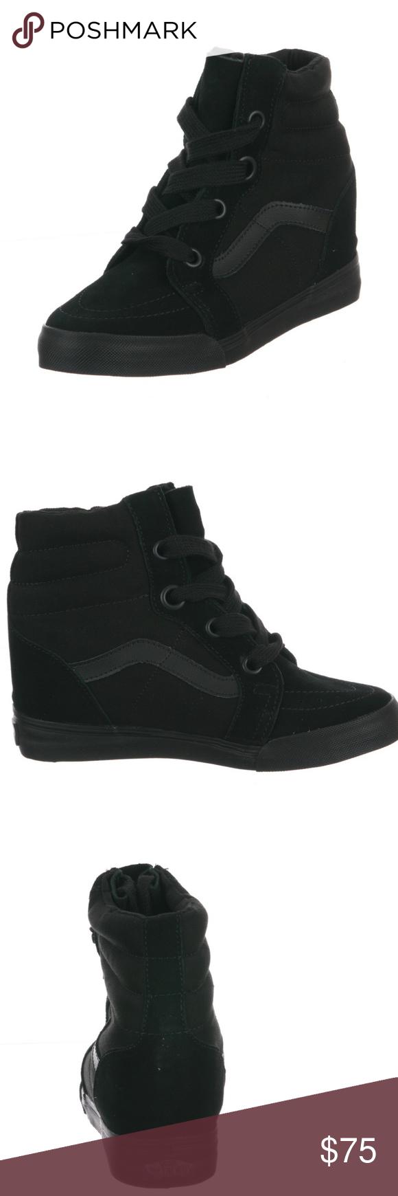 8476ad49aa08 Vans SK8-HI WEDGE Sneakers Black Black NOWT Vans SK8-HI WEDGE Sneakers Black  Black Brand New without tags