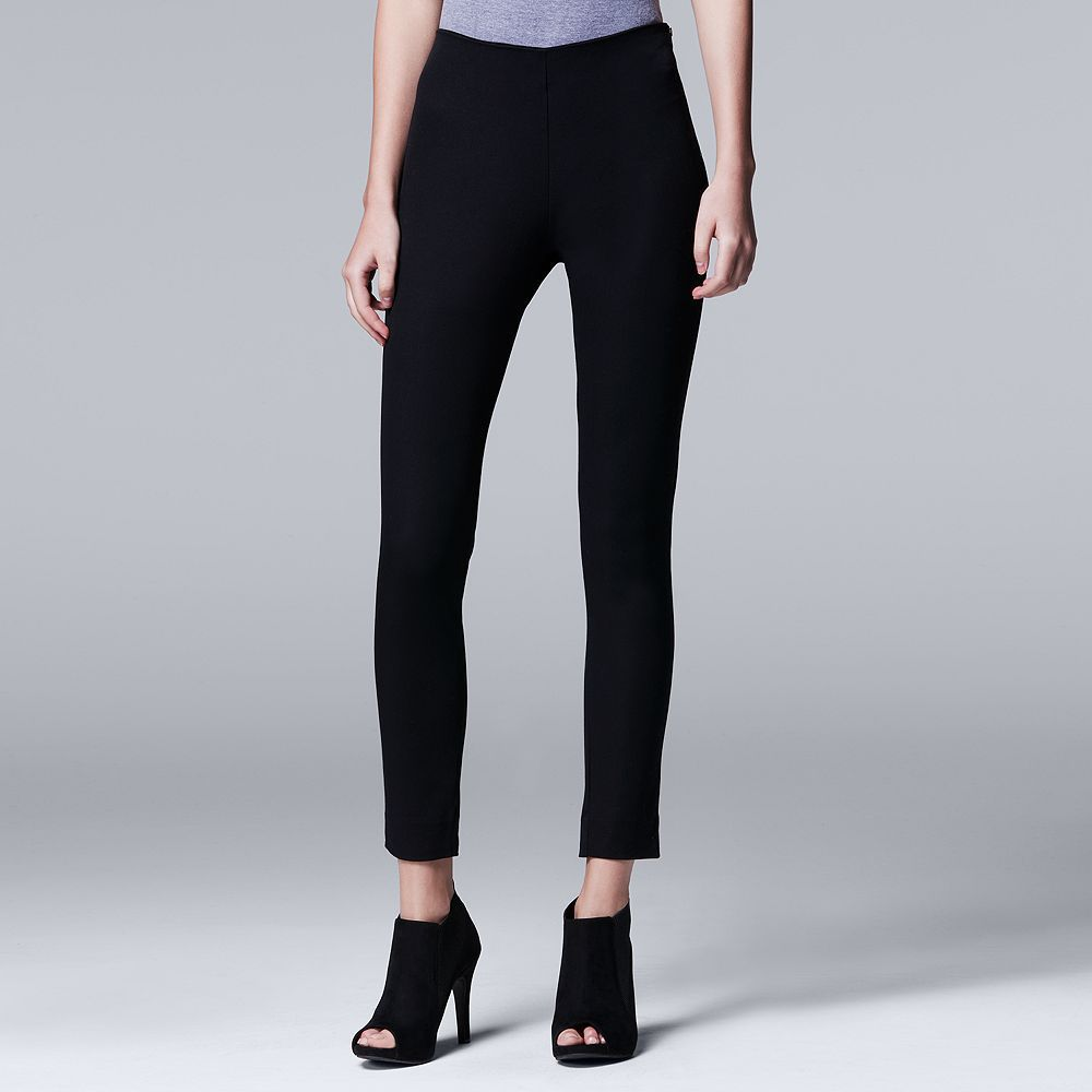 Women's Simply Vera Vera Wang Twill Skinny Pants, Black