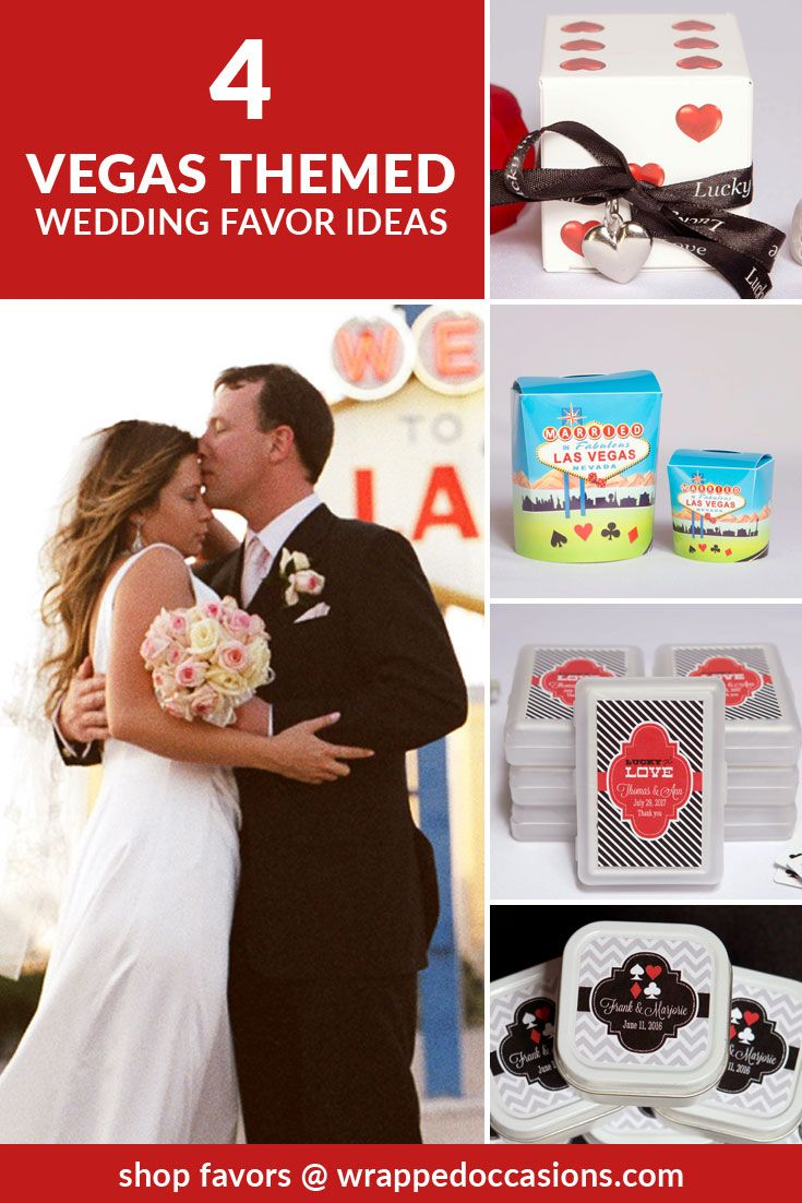 Four Vegas Themed Wedding Favors Ideas | (1) Lucky in Love - Heart ...