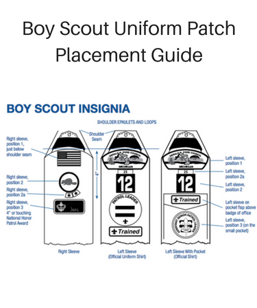 Boy scout sash trick for badges busy kids happy mom.