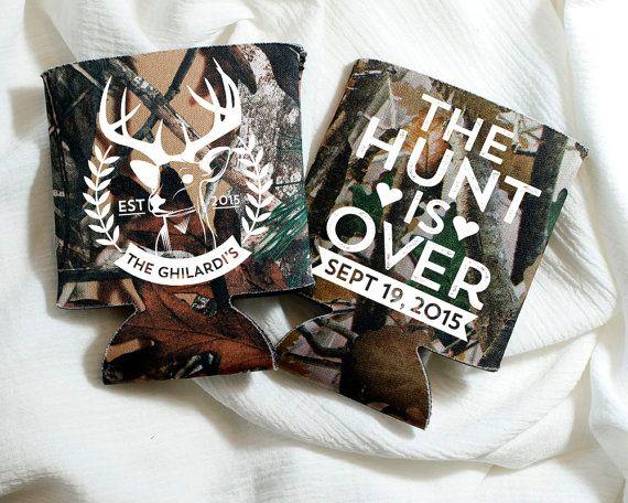 The Hunt Is Over Wedding Favors Camo Wedding Antler Wedding Gift