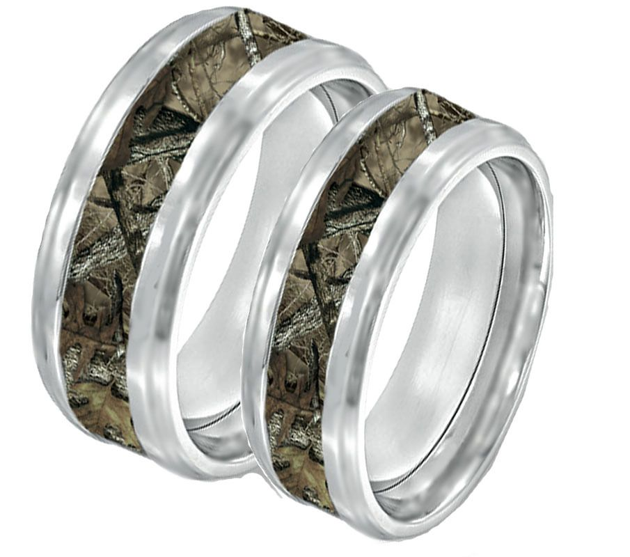 ring southern sisters designs camo couples ring set his and hers - Camo Wedding Ring Sets His And Hers