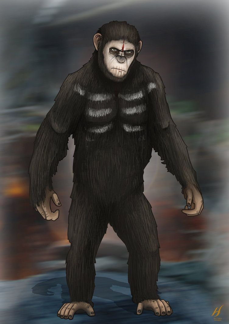 Dawn Of The Planet Of The Apes Caesar By Matthewhogben On Deviantart Planet Of The Apes Dawn Of The Planet Apes