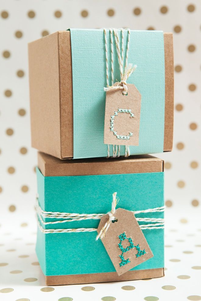 Learn How To Cross-stitch Alphabet Gift Tags! | Gift Wrap & Paper ...