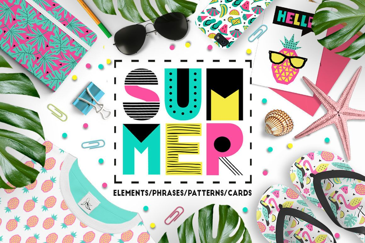 Summer graphic collection By Ekaterina Kiriy TheHungryJPEG