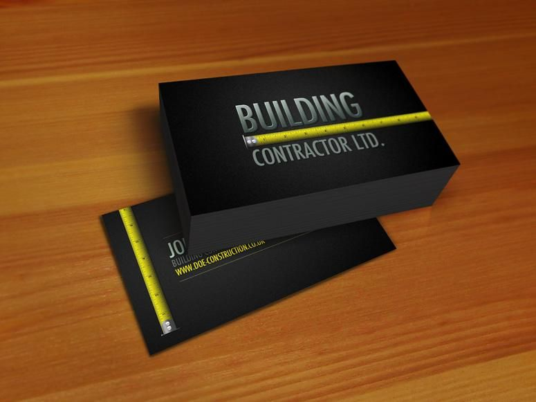 Professional construction business card business cards pinterest professional construction business card colourmoves Images
