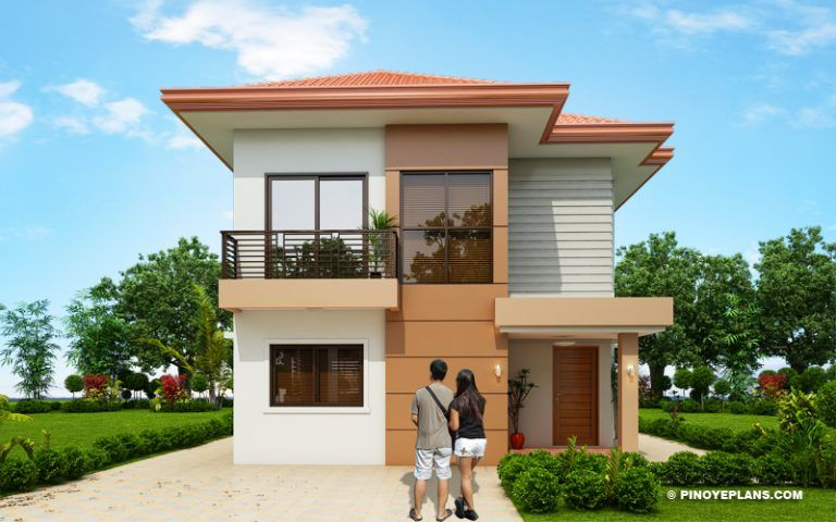 Elisa Four Bedroom Compact Two Storey House Design Pinoy Eplans Philippines House Design Two Story House Design Small House Design Philippines
