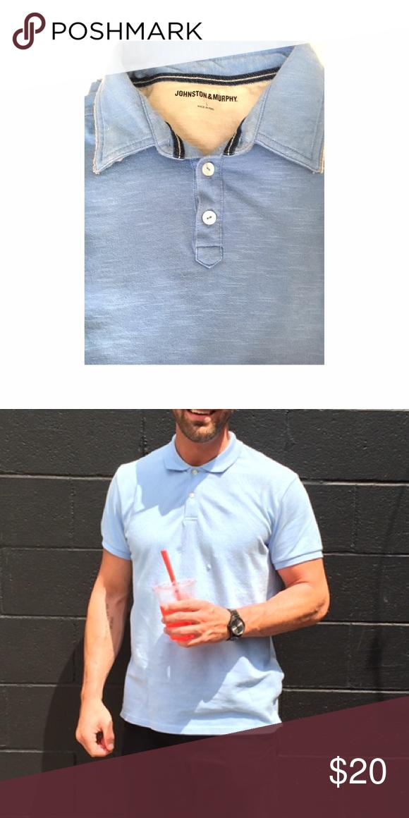 Johnston & Murphy Shirt Johnston & Murphy Light Blue Shirt. Large FREE Fragrance sample Johnston & Murphy Shirts Polos