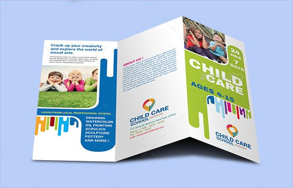 This Brochure Lacks Balance And Unity There Is None Of Either On - Child care brochure templates free