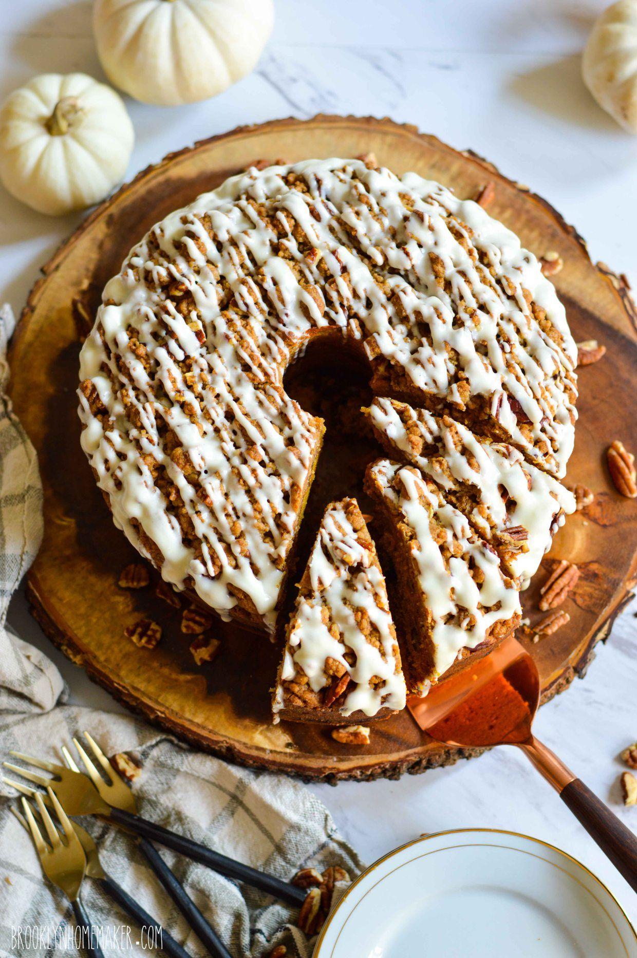 pumpkin streusel coffee cake Coffee cake, Streusel