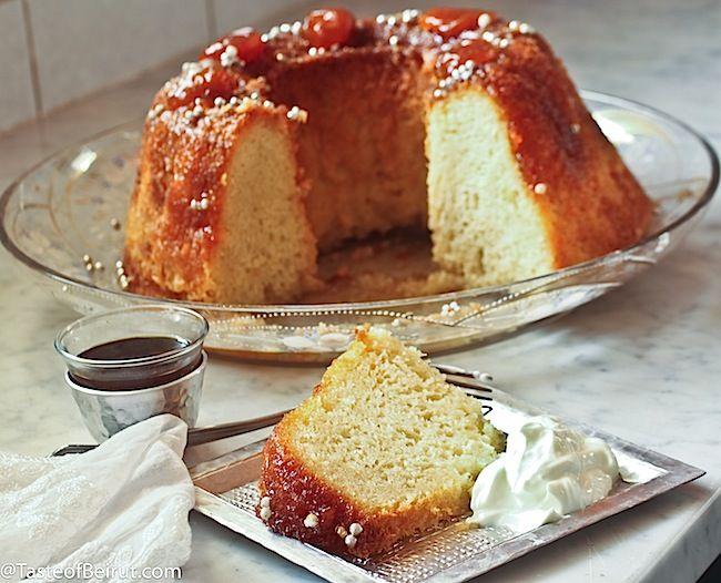rum cake (baba au rhum) | armenian & lebanese food/ desserts