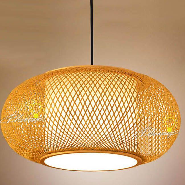 Modern Hand Waved Bamboo Pendant Lighting www.phxlightingshop.com