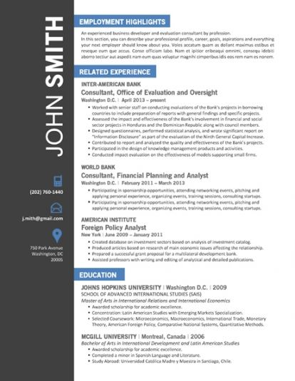 World Bank Consultant Sample Resume Trendy: Top 10 Creative Resume Templates  For Word [Office]