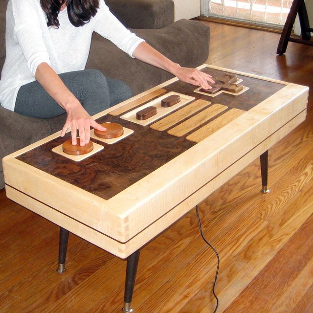 Functional Nintendo NES Controller Coffee Table!