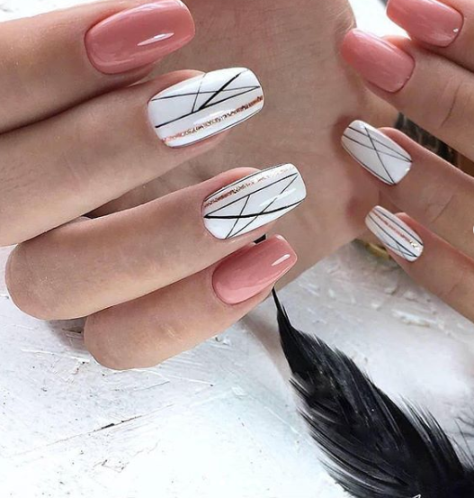 White And Pink Nail Style 2019 Elegant Nail Designs Pink Nails Elegant Nails