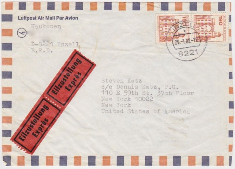 Jorma Kaukonen / Jefferson Airplane - Letter To Steve Katz of Blood Sweat & Tears - Recordmecca