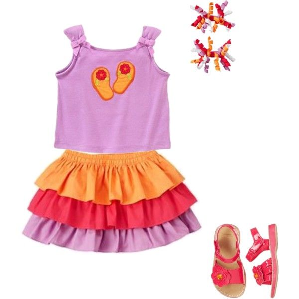 Little girl outfit 3, created by carpediem2013 on Polyvore