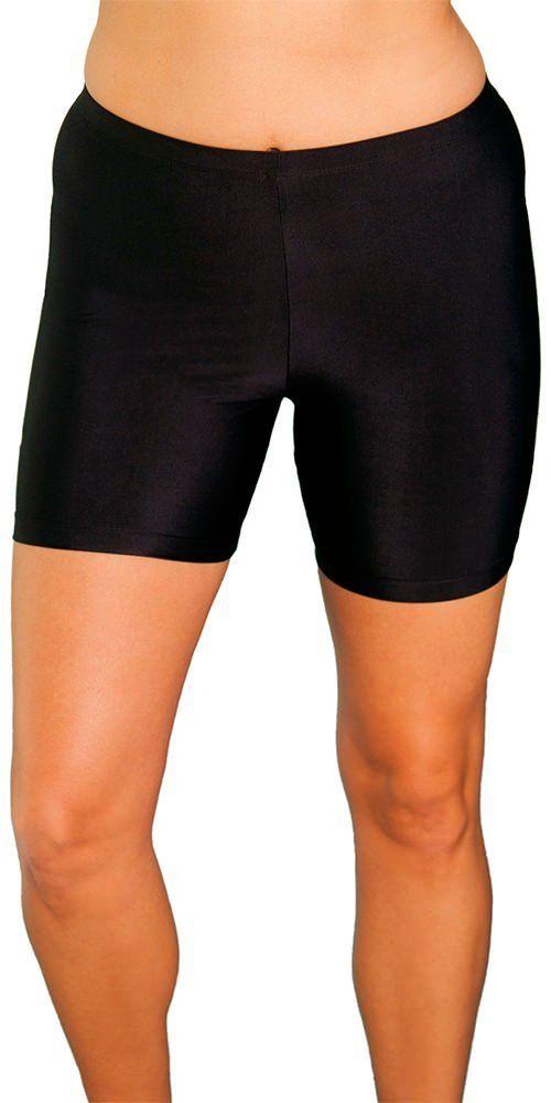 b3eac77ccf76f Aquabelle Chlorine Resistant! Black Plus Size Bike Short Plus Size Swimwear  ($24.00)