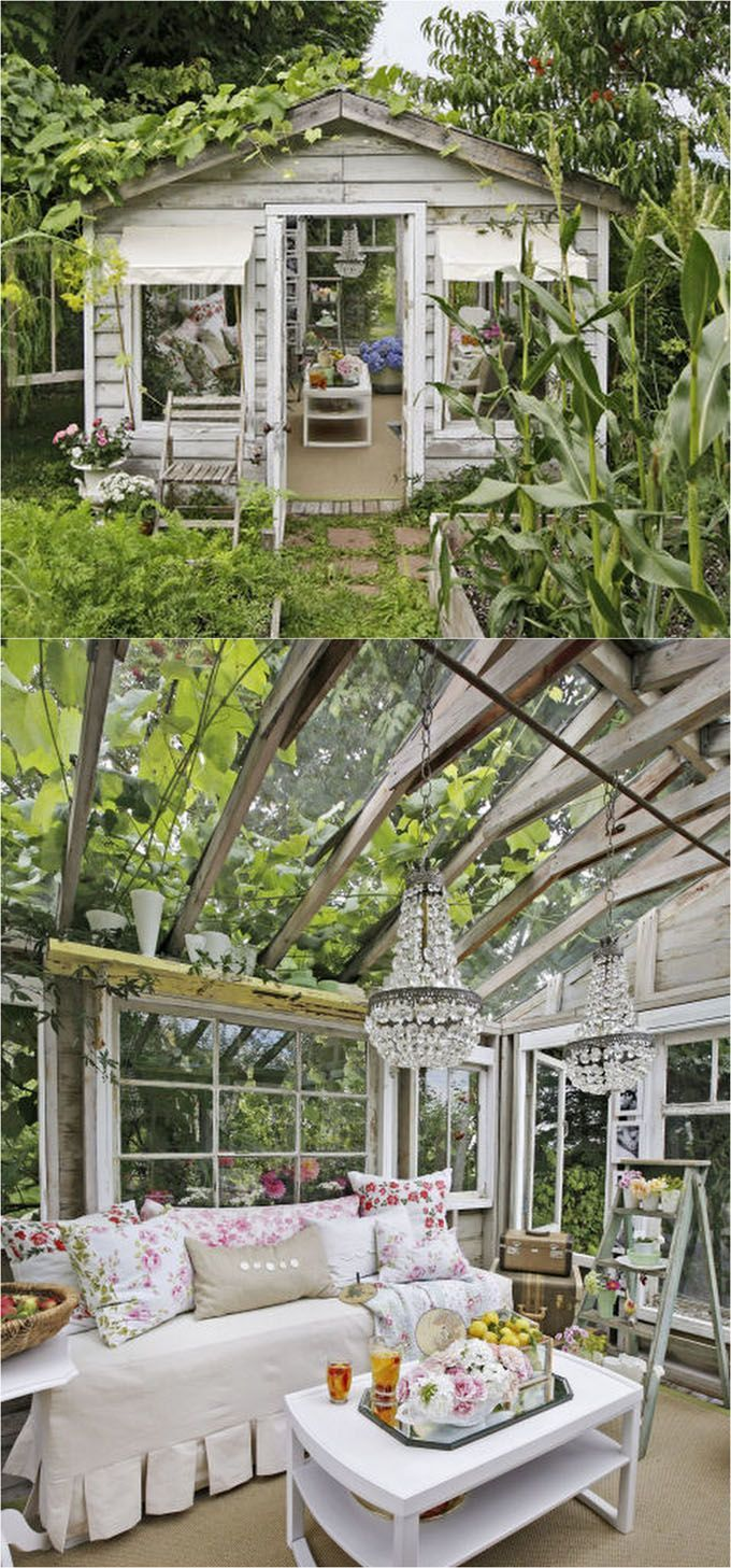 12 Most Beautiful DIY She Shed and Greenhouse Ideas with Reclaimed ...