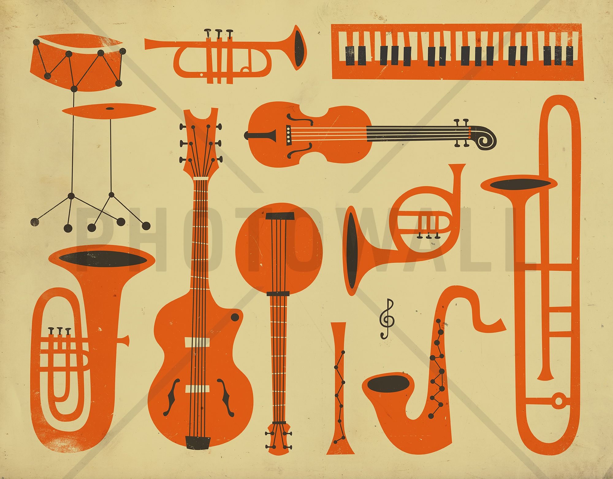 All That Jazz - Wall Mural & Photo Wallpaper - Photowall ...