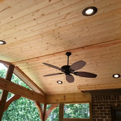 Covered Porches Vaulted Ceiling Lighting Outdoor Ceiling Fans