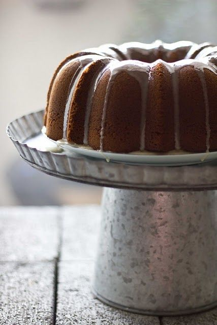 Date Bundt Cake w/Honey Clove Glaze.  Will someone please come spend the night so I have an excuse to make this?