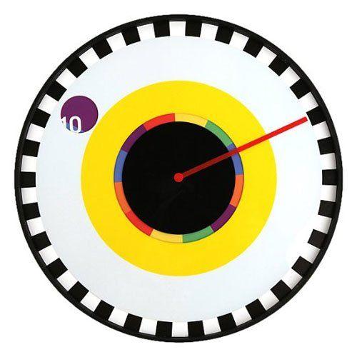 Kikkerland Milton Glaser Clock Sprocket Kikkerland Wall Clock Wall Clock Design Clock Design