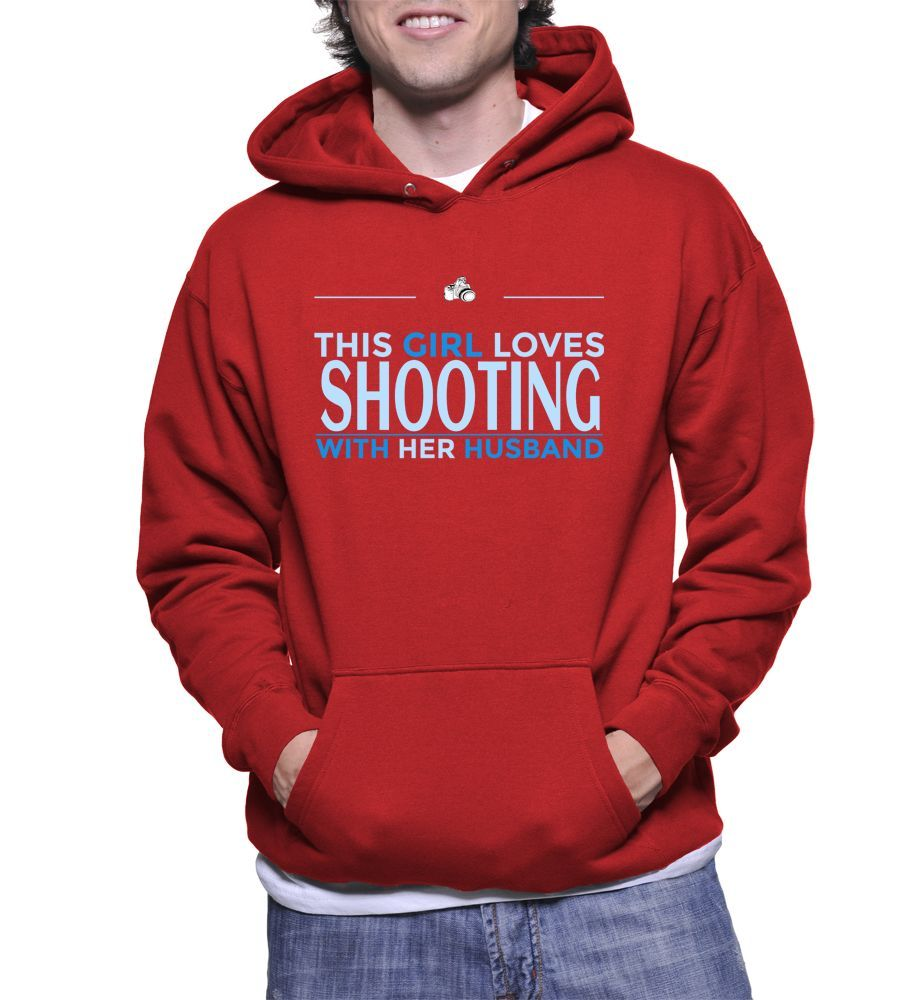 This Girl Loves Shooting With Her Husband Hoodie