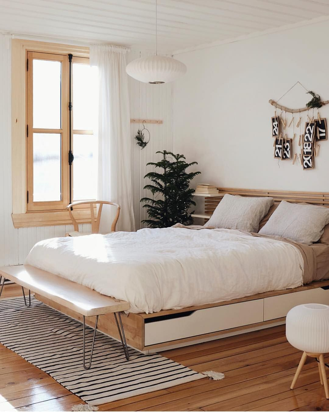 Mid Century Boho Scandinavian On Instagram Neutrals And Wood L I F E Beautiful And Serene Bedroom Interior Scandinavian Interior Bedroom Serene Bedroom