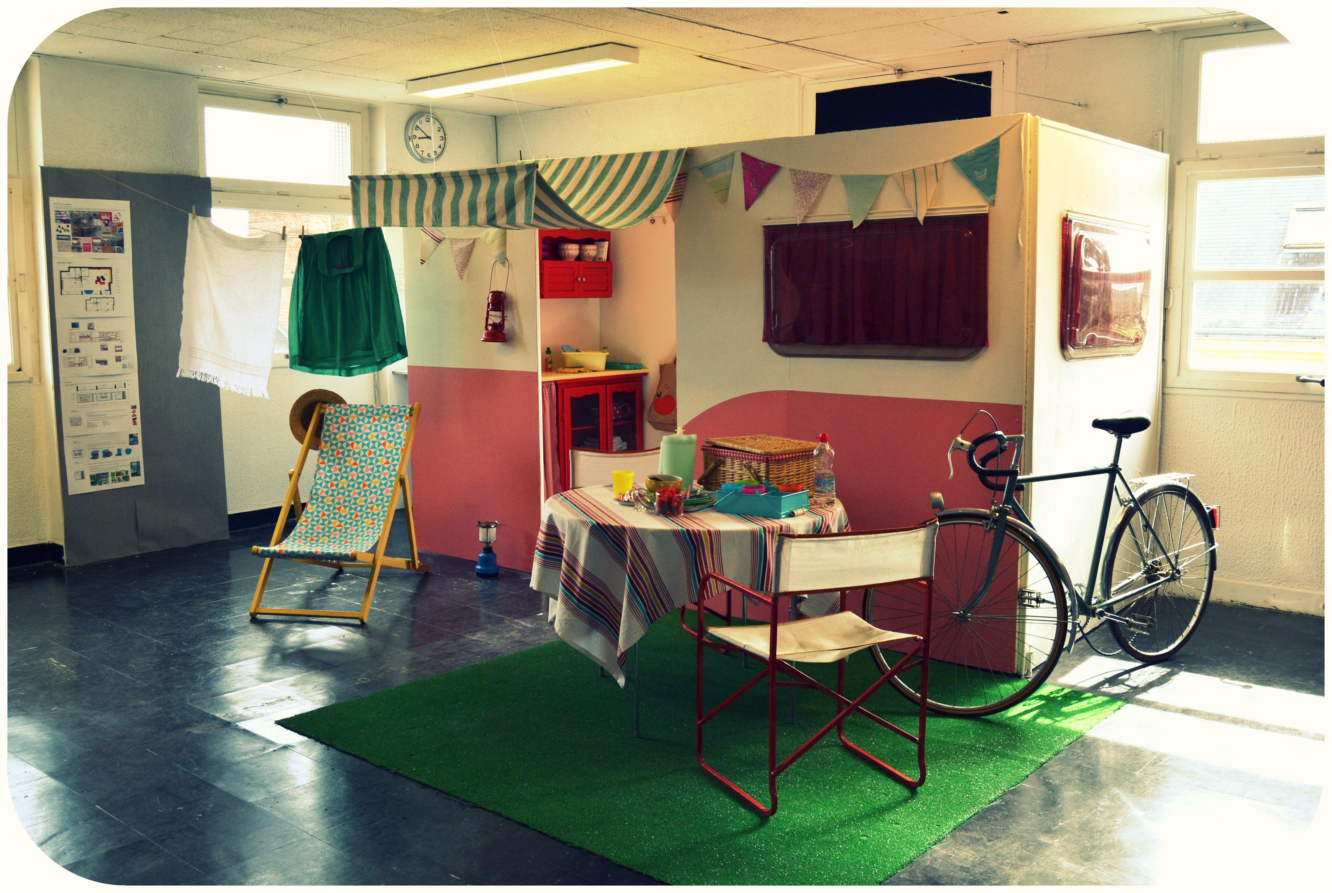 Scenographie Caravane Realisee Par Les Etudiants En Decoration