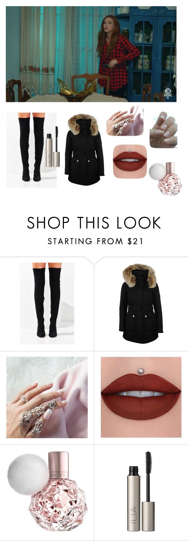 """Untitled #629"" by arzu-alieva ❤ liked on Polyvore featuring beauty, Jeffrey Campbell, K100 Karrimor and Ilia"