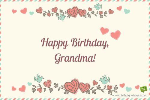 Happy Birthday Grandma Birthday Wishes Pinterest Happy