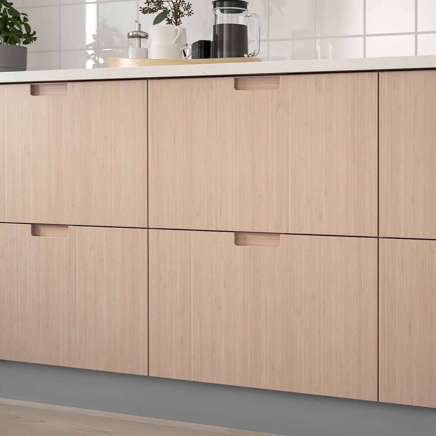 Frojered Facade De Tiroir Bambou Clair 30x10 76x25 Cm Ikea En 2021 Ikea Bambou Tiroir