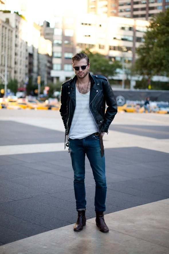 1000  images about leather jacket on Pinterest | Men street styles