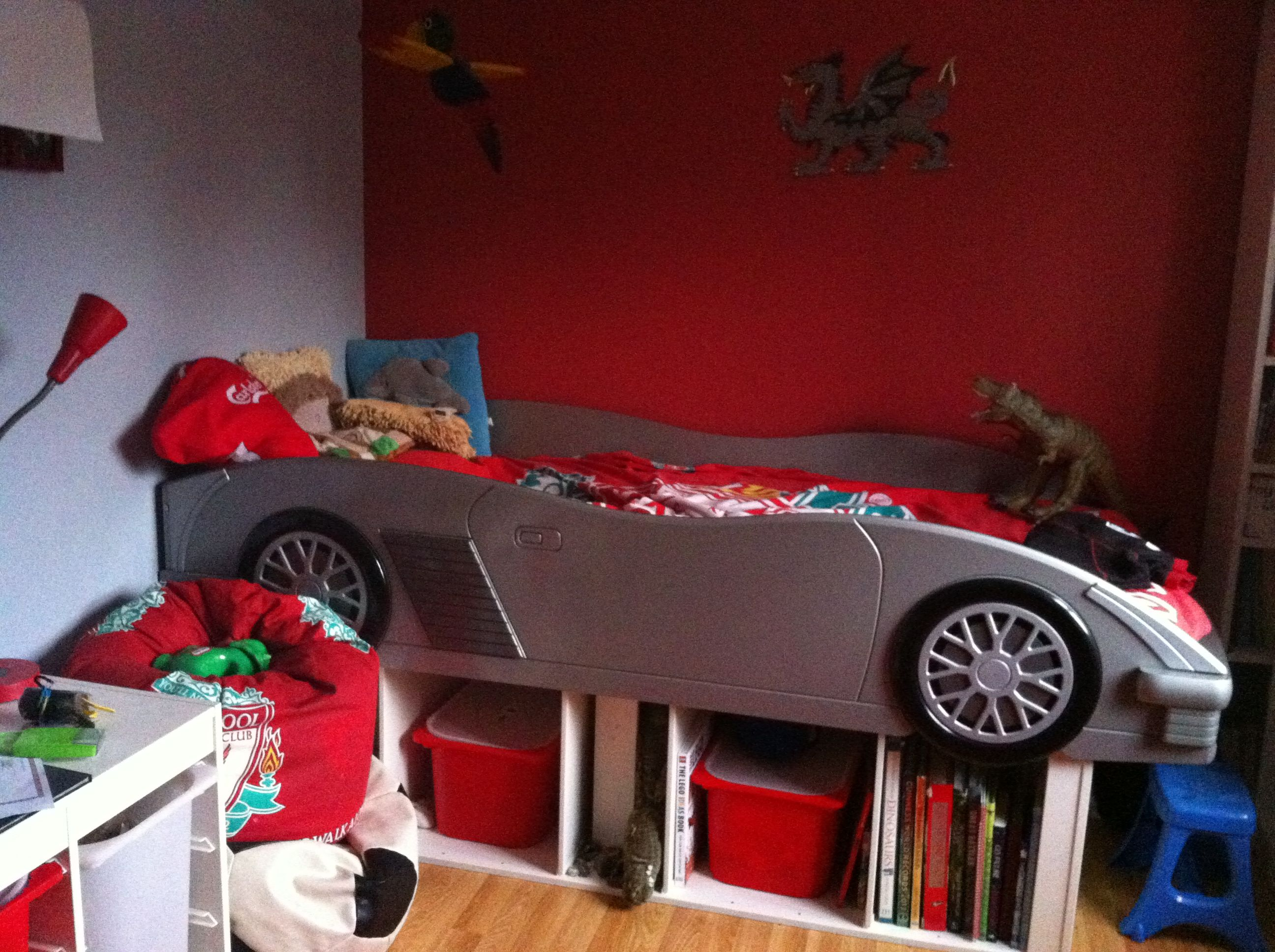 Pimped Up Car Bed Using Ikea Toy Storage Units For Under Bed