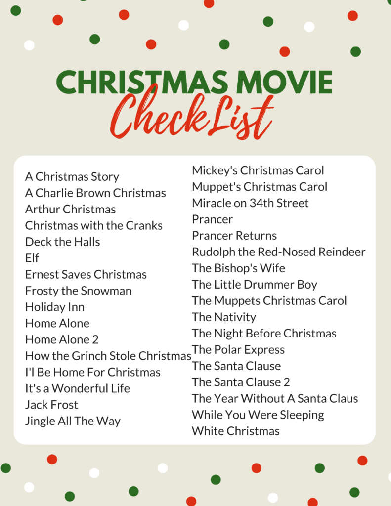 25 Days Of Christmas Movies Free Printable Schedule Highlights 25 Days Of Christmas Christmas Jingles 12 Dates Of Christmas