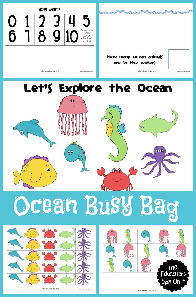 Ocean Animal Busy Bag | Busy Bags for the Kiddos! by The Educators ...