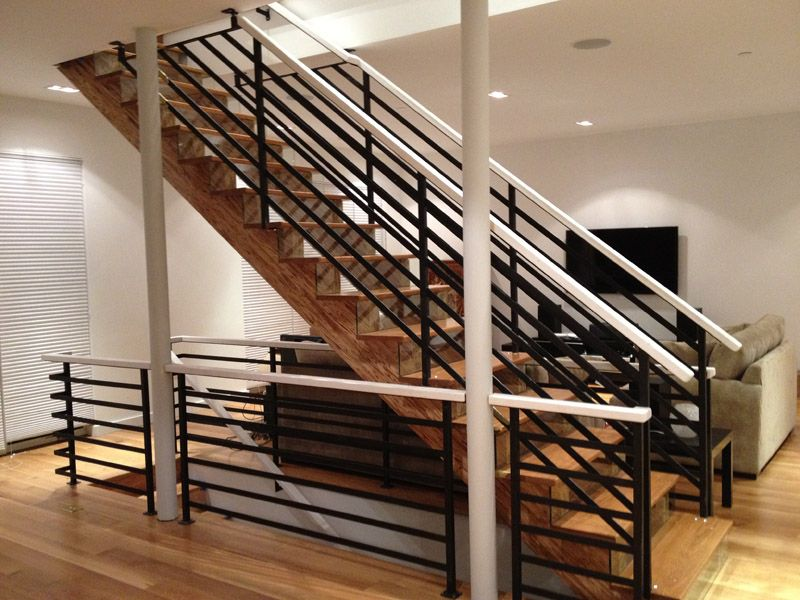Best Modern Stair Railings Modern Railing Black Metal With 400 x 300