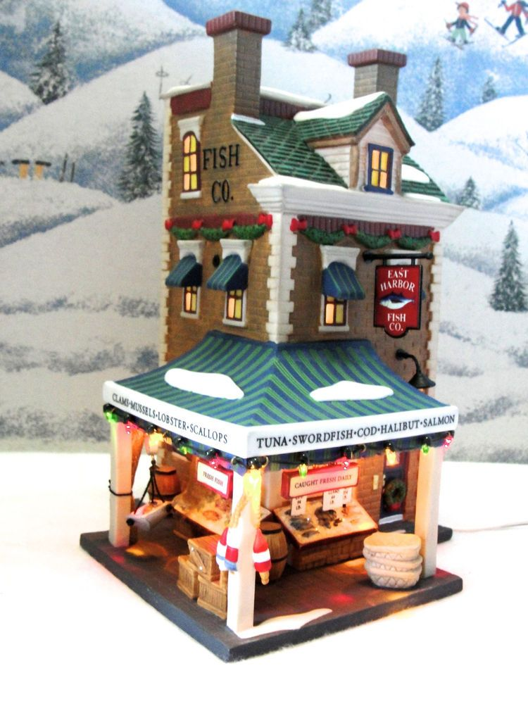 DEPT 56 CHRISTMAS IN THE CITY *EAST HARBOR FISH CO.* 58946 SEAFOOD SHOP WBX