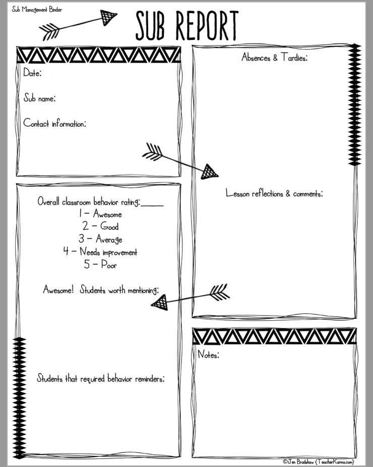 Got SUB BINDER? Free Sub Forms To Get Started!