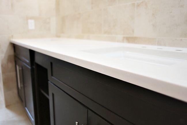 Silestone Yukon Blanco With Dark Espresso Cabinets With