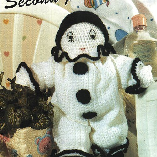 Crochet Classic French Clown Doll Pattern plus Bonus | BeadedBundles ...
