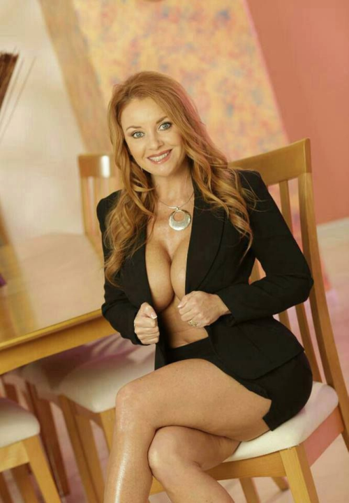 Hot sexy redhead secretaries