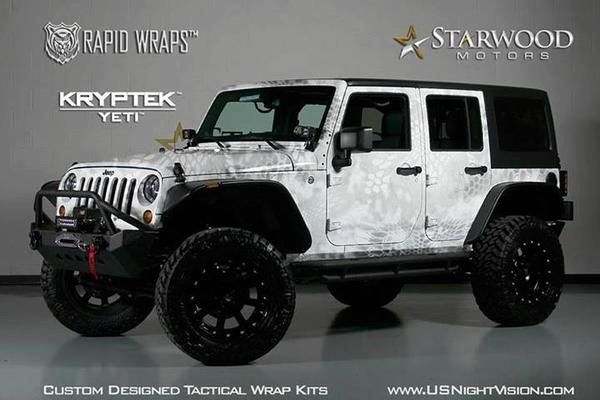 2013 Jeep Wrangler Kryptek Yetti Vinyl Wrap By Rapid Wraps