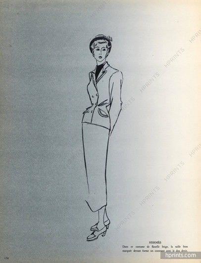 Hermès & Marron Fourrure 1948 Raymond Baumgartner