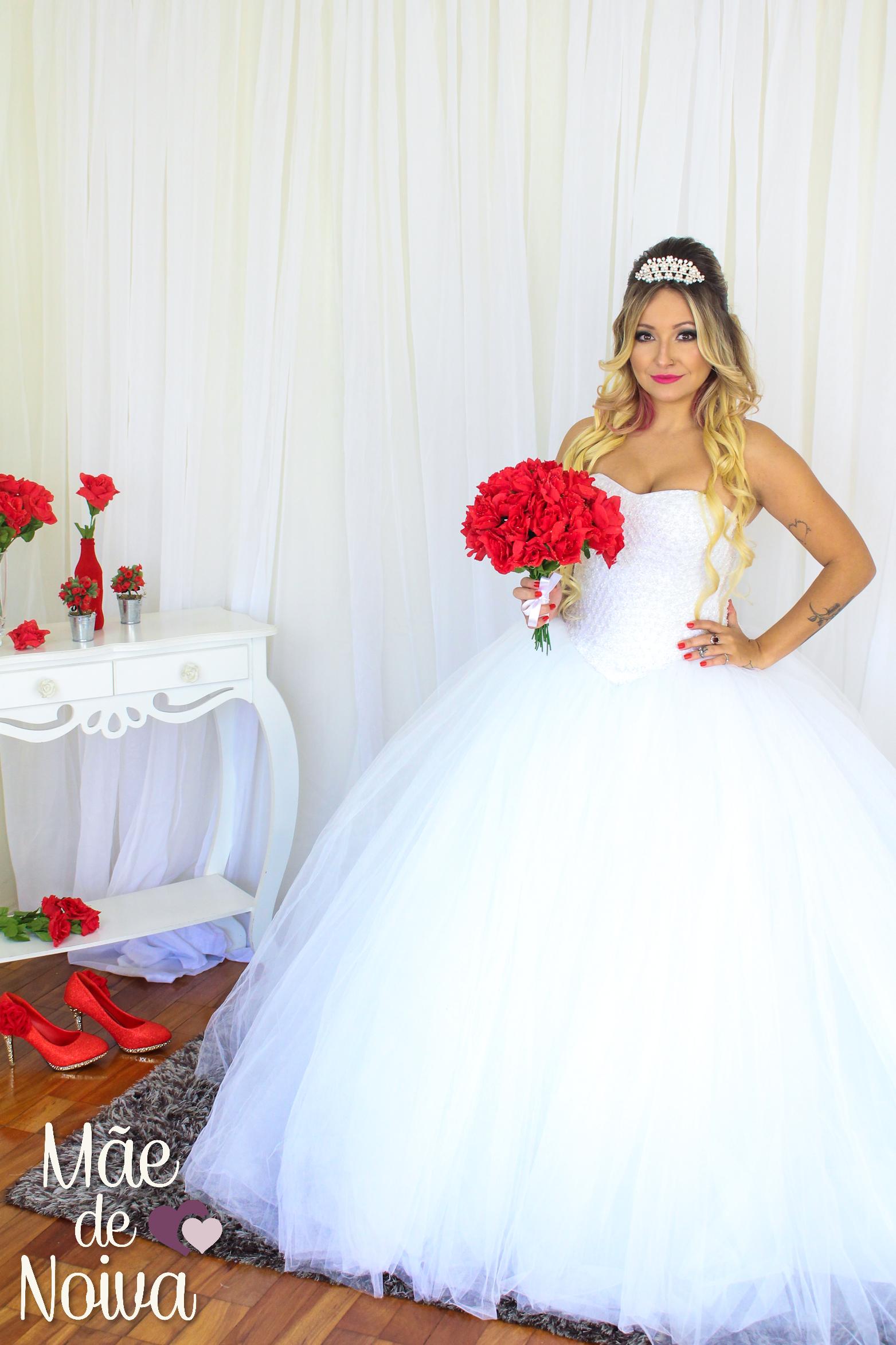Vestido de noiva princesa, noiva saia de tule, noiva volumosa, noiva ...
