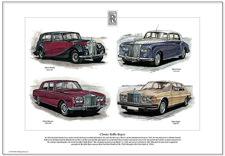 Collectable Cards: Golden Era Print - Rolls-Royce - Classic Rolls-Royce