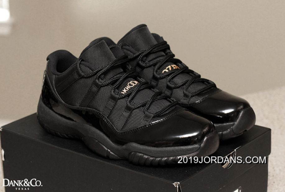 cheap air jordan 11 low all black